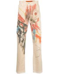 Heron Preston Slim-fit Abstract Print Jeans - Multicolor