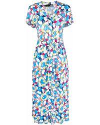 Love Moschino ハートプリント ドレス - ブルー