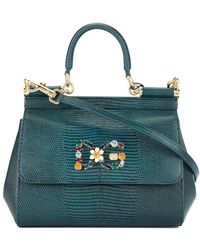874428ee6590 Dolce   Gabbana Sicily Mini Tote Bag in Yellow - Lyst