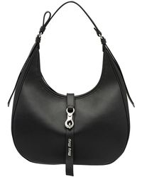 Miu Miu Hobo Shoulder Bag - Black