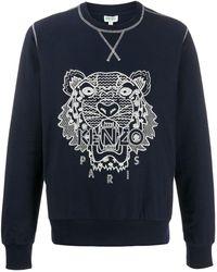 KENZO Ikat tiger logo sweatshirt - Noir