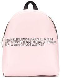 Calvin Klein Rugzak Met Tekst - Roze