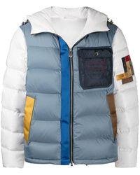 Peuterey カラーブロック パデッドジャケット - ブルー
