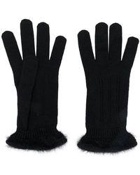 Cruciani Knitted Glovers - Black
