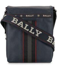 Bally ロゴ メッセンジャーバッグ - ブルー