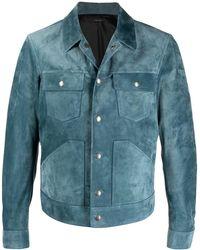 Tom Ford スエード ウエスタンジャケット - ブルー