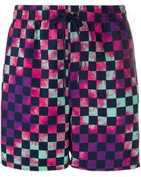 Vans Tie-dye Checkerboard Swim Shorts - Purple