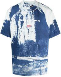 Alexander Wang Cathedral Rock Crew-neck T-shirt - Blue