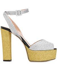 Giuseppe Zanotti Glitter Sandalen - Metallic