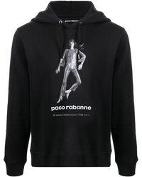 Paco Rabanne グラフィック パーカー - ブラック