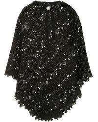 Bambah Lace Crochet Poncho - Black