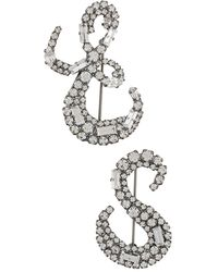 Ermanno Scervino Crystal Monogram Brooches - Metallic