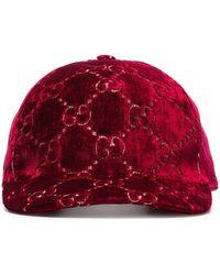Gucci Кепка С Узором GG - Красный