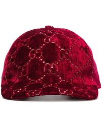 Gucci Red Logo Print Cap - Rood