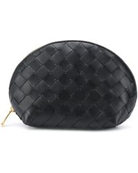 Bottega Veneta Trousse make up Intrecciato - Nero