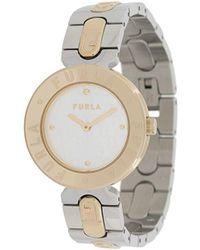 Furla Наручные Часы Logo Links 34 Мм - Металлик