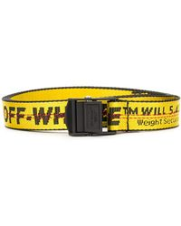 Off-White c/o Virgil Abloh Logo Print Belt - Yellow