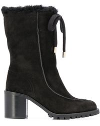 Jimmy Choo Buffy 65mm Hiking Boots - Black