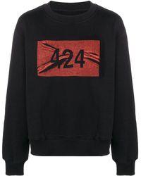 424 ロゴ スウェットシャツ - ブラック