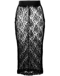Dolce & Gabbana - フローラル ミディスカート - Lyst