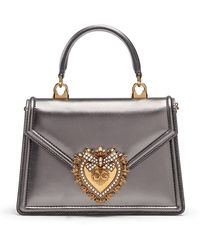 Dolce & Gabbana Devotion メタリック ショルダーバッグ