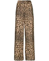 P.A.R.O.S.H. - Leopard Printed Trousers - Lyst