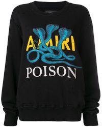 Amiri - Logo Print Sweatshirt - Lyst