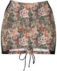 Miaou Minifalda con estampado floral y cierre de encaje - Multicolor
