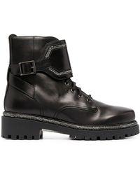 Rene Caovilla Crystal-embellished Ankle Boots - Black