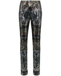 Mary Katrantzou - Sequinned Straight Leg Trousers - Lyst