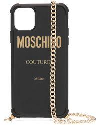 Moschino チェーン Iphone 11 Pro Max ケース - ブラック