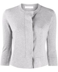 Fabiana Filippi 3/4 Sleeve Cardigan - Grey