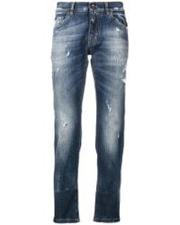 Dolce & Gabbana - Stonewashed Ripped Jeans - Lyst