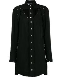 Courreges Studded Mini Dress - Black