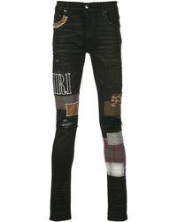 Amiri Jeans Met Patchwork - Zwart