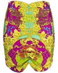 Philipp Plein Облегающая Юбка С Принтом - Пурпурный
