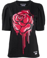 Boutique Moschino パフスリーブ Tシャツ - ブラック
