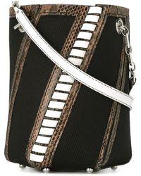 Proenza Schouler Hex Striped Bucket Bag - Black