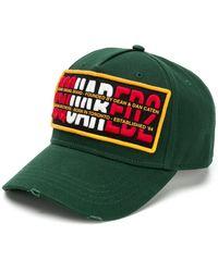 DSquared² Gorra de béisbol con logo bordado - Verde