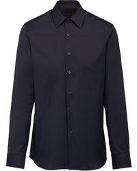 Prada Stretch Poplin Shirt - Blue