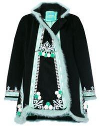 Yuliya Magdych Hutsil Embroidered Coat - Black