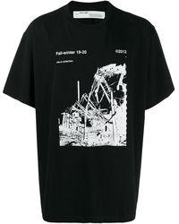 Off-White c/o Virgil Abloh - ブラック And ホワイト Ruined Factory T シャツ - Lyst