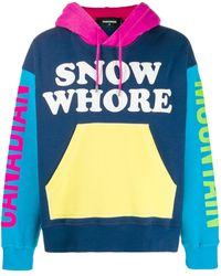 DSquared² Sudadera Snow Whore con capucha - Azul