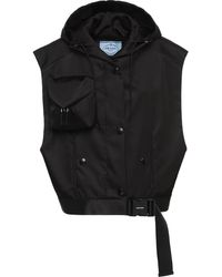 Prada Re-nylon Pocket-detail Vest - Black