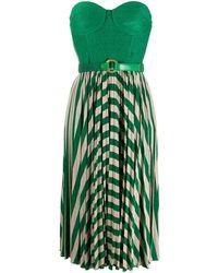Elisabetta Franchi Vestido plisado sin mangas - Verde