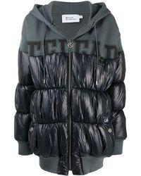 Telfar パネル パデッドコート - ブラック