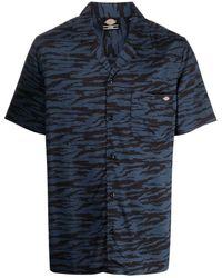 Dickies Construct Zebra-print Short-sleeve Shirt - Blue