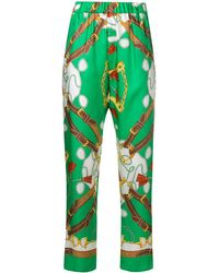 P.A.R.O.S.H. - Printed Tapered Trousers - Lyst