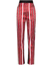 Haider Ackermann Slim Leg Striped Pants - Red