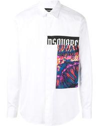 DSquared² Camisa con estampado gráfico - Blanco